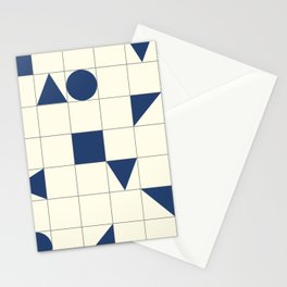 geo shapes-blue Stationery Cards