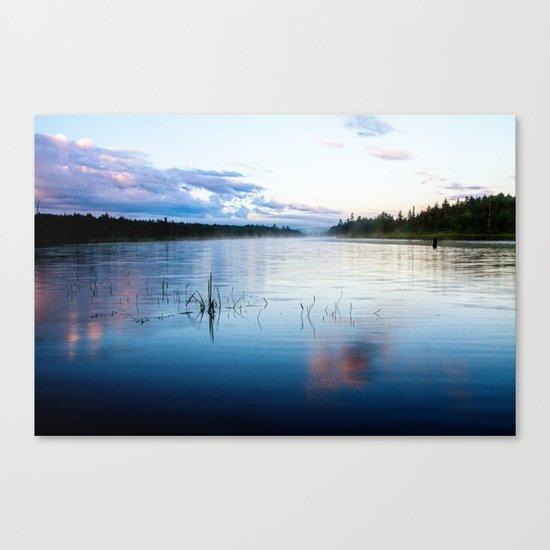 morning on raquette lake Canvas Print