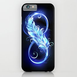 Fiery Symbol of Infinity with Feather iPhone Case