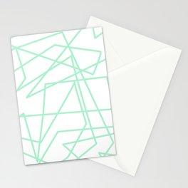 Minty Scwiggle Stationery Cards
