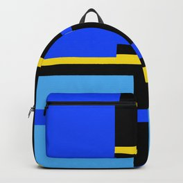 Rectangles - Blues, Yellow and Black Backpack