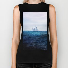 Sailing Ship on the Sea Biker Tank