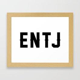 ENTJ Framed Art Print