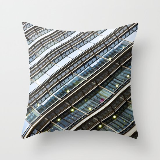 Canary Wharf  Abstract Throw Pillow