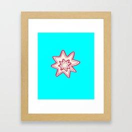 POW -  (Bright Blue) Framed Art Print