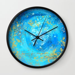 Blue Abstract Space Swirl  Wall Clock
