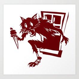 Home Invasion Cat Art Print