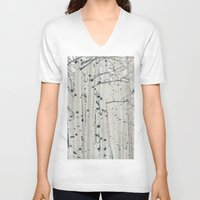narnia V-neck T-shirts featuring Aspen I by Laura Ruth