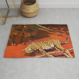 Hunter And A Cheetah - Digital Remastered Edition Rug