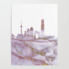 Beijing Skyline China Poster