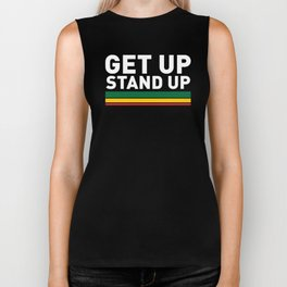 Get Up Stand Up / Rasta Vibrations Biker Tank