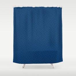 10 Print: Thin Blue Shower Curtain