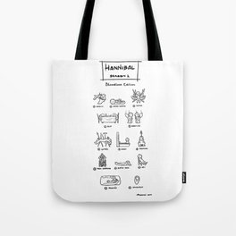 Hannibal - Season 1: Bloodless Edition! Tote Bag