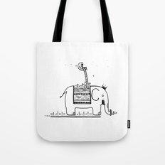 On My Elephant  Tote Bag