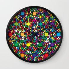 Star Wave Geometric Art Print. Wall Clock