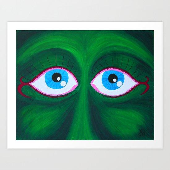 Jealous Eyes Art Print