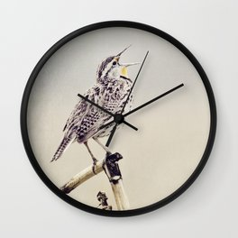 Happy As A Lark Wall Clock