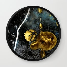 gold dark matter Wall Clock