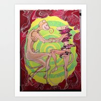 The Forceful Forcing of the Push for the Rat Race Art Print