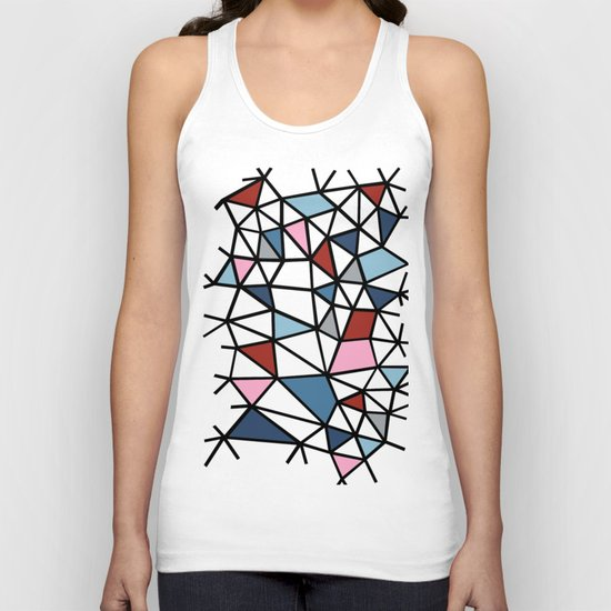 Segment Pink and Blue Unisex Tank Top