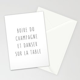 Champagne ! Stationery Cards