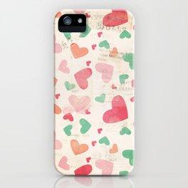 Textured Heats Pattern iPhone Case