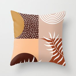Baked Earth Geometric Theme Throw Pillow