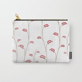 Red berries, simple pattern, vector illustration Carry-All Pouch