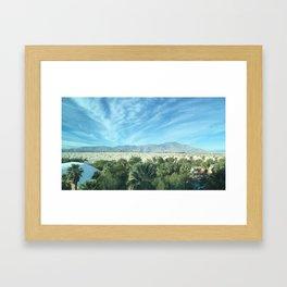 Palm Desert Mountains California Framed Art Print