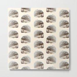 cute beige woodland animal baby hedgehog Metal Print