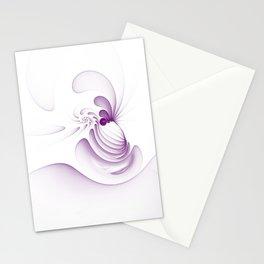 Purple Swirls Stationery Cards