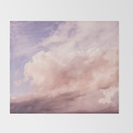 Perfect Pink Summer Sky Nature Photography Throw Blanket