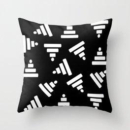 Pyramid Black Throw Pillow