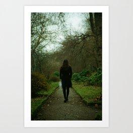 A Walk in a Botanic Garden Art Print