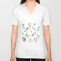 plants V-neck T-shirts featuring Plants  by Maggie Chiang