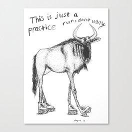 Practice Run, Wildebeest Canvas Print