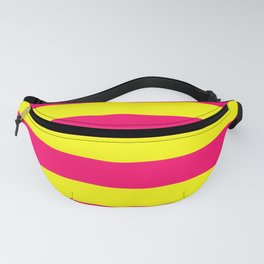 Bright Neon Pink and Yellow Horizontal Cabana Tent Stripes Fanny Pack