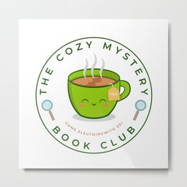 The Cozy Mystery Book Club Metal Print