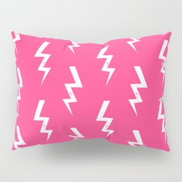 Bolts lightening bolt pattern pink and white minimal cute patterned gifts Pillow Sham