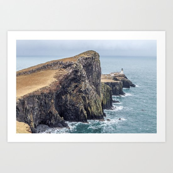 Lighthouse rock ocean Art Print