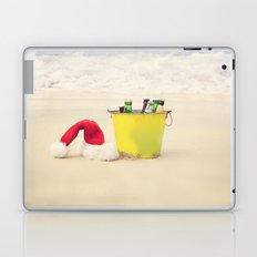 Santa Hat and Beach Beverage Laptop & iPad Skin