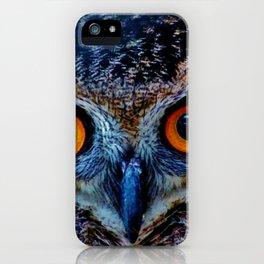 Orange Owl Eyes iPhone Case