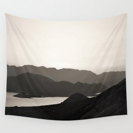 Mountains and a lake Wall Tapestry