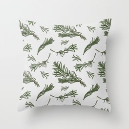 Rosemary rustic pattern Throw Pillow