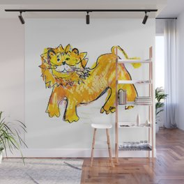 Lion illustration for kids Wall Mural