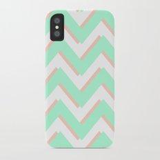 3D CHEVRON MINT/PEACH iPhone X Slim Case