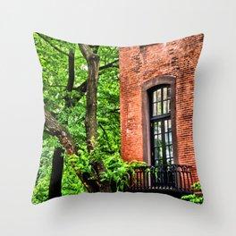 Greener Days at Gramercy Park East, Manhattan, New York City Throw Pillow