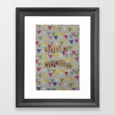 Lets Party Framed Art Print
