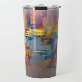 """Yellow city"" by Diana Grigoryeva Travel Mug"
