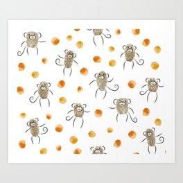 5 Little Monkeys Art Print
